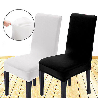 2/4/6pcs Removable Stretch Slipcovers Dining Lycra Spandex Chair Seat Cover