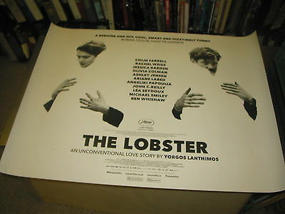 The Lobster/orig. Brit Quad Movie Poster (Colin Farrell/rachel Weisz)