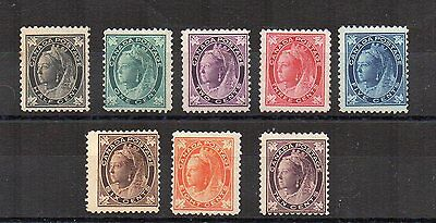 Canada 1897-98 vals to 10c MH