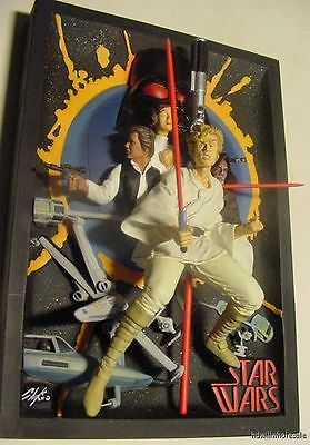 STAR WARS RESIN 3D MOVIE POSTER CODE 3 Comic-Con NEW HOPE Chaykin LIGHTSABER 70s