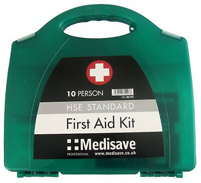New Hse First Aid Kit 1-10 Person Workplace Home Caravan Taxi Includes Hard Case
