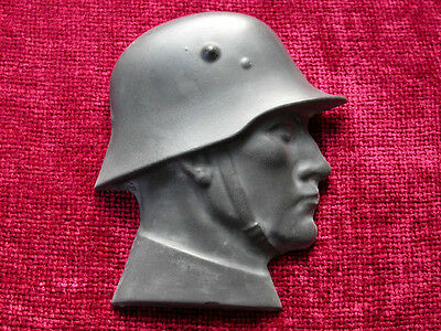 WW1 German Soldier Wall Plaque