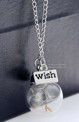 DANDELION WISH BALL WITH CHAIN Wicca Pagan Witch Goth Charmed Spell