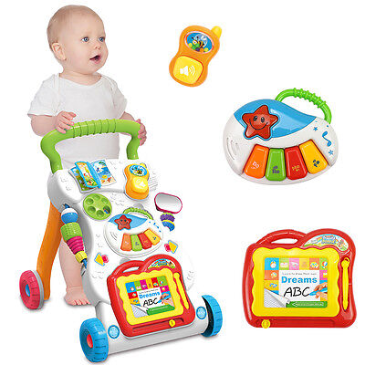 Baby Babies Musical Sounds & Lights Activity Centre Push Along Walker 666-16