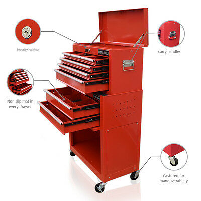 357 Us Pro Tools Red Affordable Tool Chest Box Tool Free Drawer Divider Cabinet