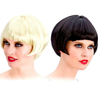 1920s Flapper Wig Ladies Fancy Dress Adults Womens Costume 20s Black/Blonde Wig
