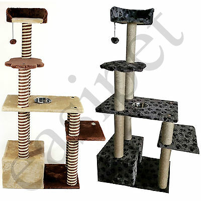 Cat Tree Activity Centre Scratcher Scratching Post Sisal 2 colours Easipet