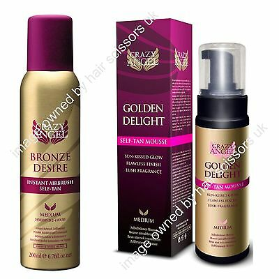 Crazy Angel Bronze Desire Air Brush Spray & Golden Delight Self Tan Mousse