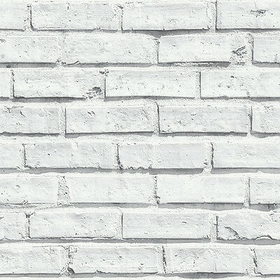 White Brick Wall Stone Realistic 3d Arthouse Feature Wallpaper 623004