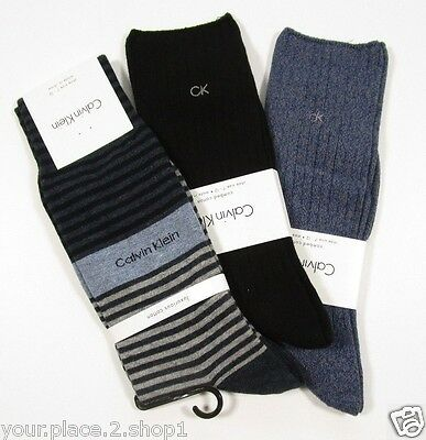 Calvin Klein Luxurious & Combed Cotton Men's Sock, 3 Sock Lot