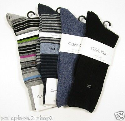 Calvin Klein Luxurious, Combed, & Cotton Rich Men's Sock, 4 Sock Lot $50