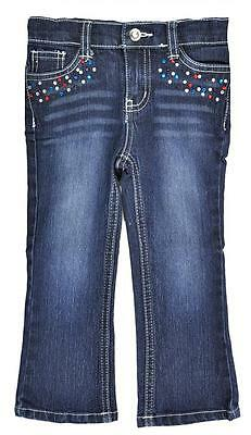 Specialty Girl Denim Blue Pant With Rhinestones Size 5 6 6X $28