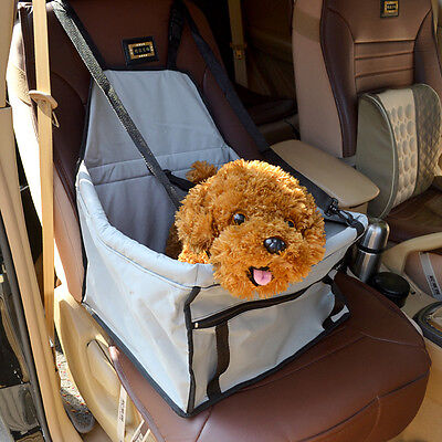 Foldable Dog Travel Booster Bag Cat Puppy Pet Car Seat Carrier Safety Belt Cover