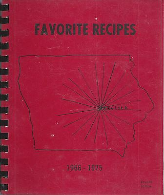 *chelsea Ia 1975 Vintage *methodist Church Cook Book *local Ads *iowa Community