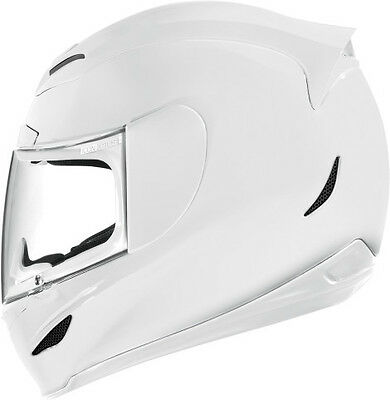 ICON Airmada Solid Full Face Motorcycle Street Helmet White