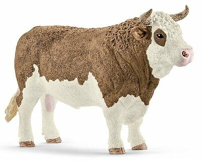 Schleich 13800 Simmental Bull Model Farm Animal Toy Cow Figurine 2016 - NIP