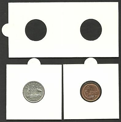 COIN HOLDERS 2 x 2 Staple Type 20mm Suits 1c 5c 6d Size - Bulk Pack of 100