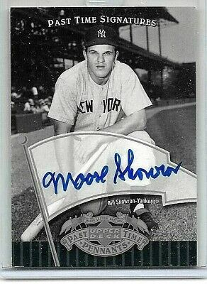 Bill Skowron Lot Of (3) Different Authentic Certified Autograph Cards!!!!!