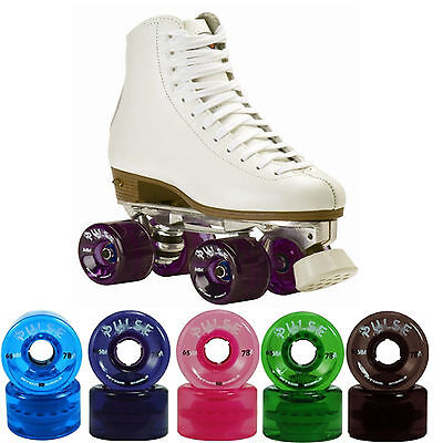 Women Outdoor High Top Roller Skates Size 4-11 With Atom Pulse Wheels