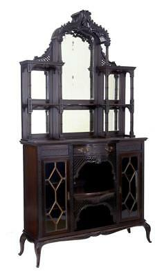 Early 20Th Century Edwardian Chinese Chippendale Mahogany Cabinet