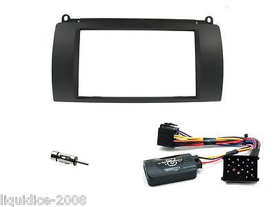 Rover 75 1999 Onwards Black Plate Double Din Facia Fitting Installation Kitt