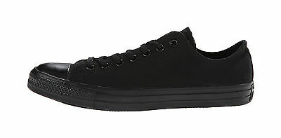 Converse All Star Women's Shoes Black Mono Canvas Low Top Fashion Sneakers M5039