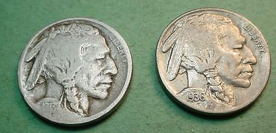 1913-S Type 1  G +   Buffalo Nickel & 1936-S Vf/xf  Bonus Coin<>Pf405