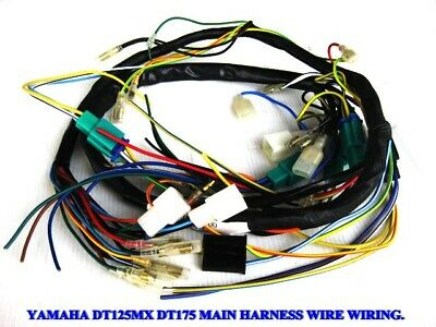 YAMAHA DT125MX DT175 MAIN HARNESS WIRE WIRING   (as)
