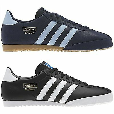 Adidas Originals Men's Bamba Trainers Black Blue Shoes Sneakers New Sizes 7 - 12
