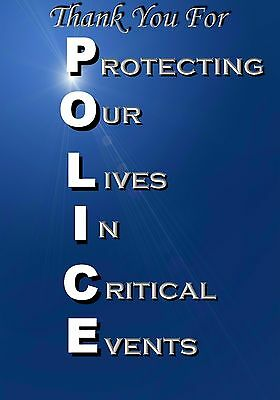 MAGNE Inspirational Thank You For Protecting Our Lives In Critical Events POLICE