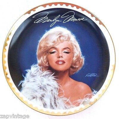 """Bradford Exchange """"Frankly Feminine"""" Marilyn Monroe The Gold Collection Plate"""