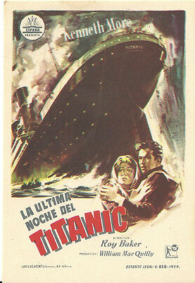 Titanic A Night To Remember Kenneth Moore Spanish Herald Mini Poster