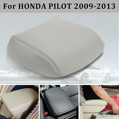 New Grey Real Leather Box Console Lid Armrest Cover For Honda Pilot 09-13