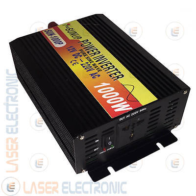 POWER INVERTER ISOLA ONDA SINUSOIDALE PURA 1000W (max2000W) DA 12V A> 220V