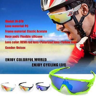 Nice Cycling Goggles Outdoor Glasses Sports Sunglasses Bicycle Five Lens UV400