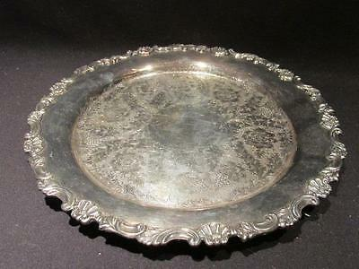 """Sheffield Reproduction Vintage Silverplate Ball-Footed Tray 7554 Lion Logo 9.75"""""""
