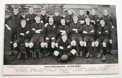 Wolverhampton Wanderers Wolves FC Team Group Postcard Early 1900s Unposted