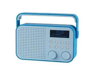Tesco DR1404B DAB Digital Radio With FM Radio & 20 Presets LCD Display Blue