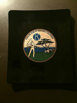Kiwanis Club of Monterey, California vintage Couroc serving tray