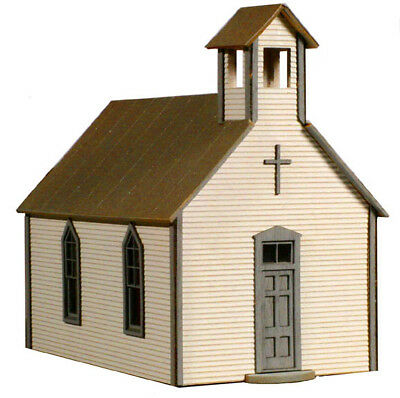 LaserKit Crossroads Church S Scale Kit #91 Very Nice! Bob The Train Guy