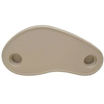 "Forest River South Bay Beige 27 7/8"" Marine Plastic Kidney Shaped Boat Table Top"