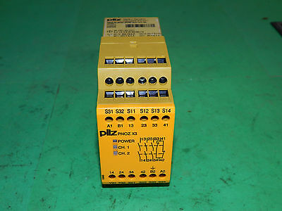Pilz PNOZ X3 Safety Relay 24VAC 24VDC 5VA 25Watt 50/60Hz