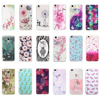 For Lenovo 3D Customized Pattern Soft TPU Rubber Back Protective Skin Case Cover