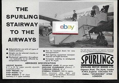 Sas Scandinavian 1958 Douglas Dc-6 Spurlings Stairways To Airways Ad