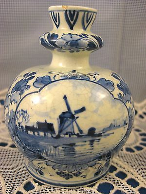 Porceleyne Fles ~ 1911 DELFT VASE ~ Antique Dutch Porcelain