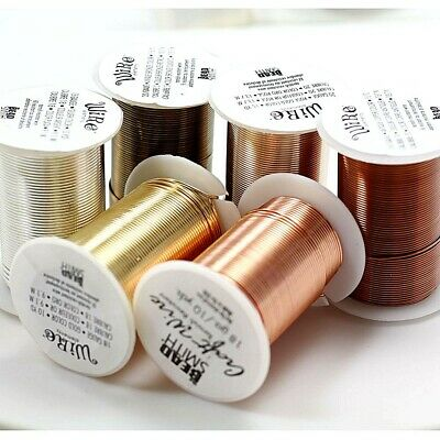 Beadsmith LACQUERED tarnish Resistant Craft Wire 3 Colors 7 Gauges Free Shipping