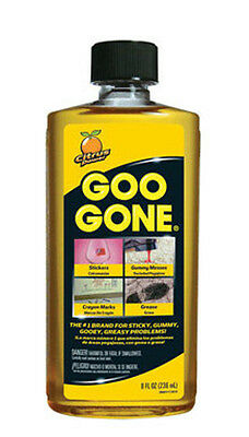 Magic Goo Gone Citrus Cleaner Solvent 8 oz Bottle GG12 Removes gum grease tar
