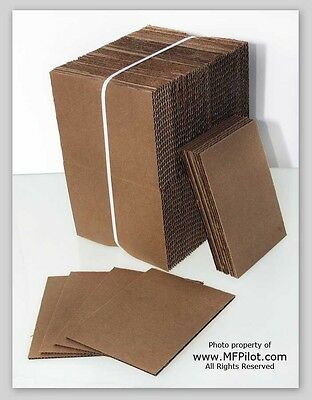 "5"" x 7"" CORRUGATED SHIPPING PADS - 100+ Piece Bundle - NEW - FREE SHIPPING"