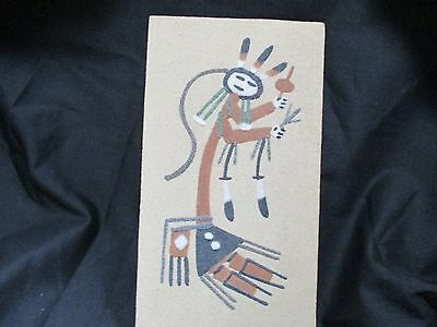 Sand Stone Art Native American Design Signed by the Artist