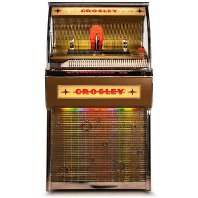 Crosley CR1207A-OA 80-Disc 4-Channel Bluetooth-Enabled Rocket Full Size Jukebox
